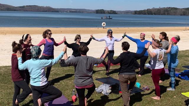 Yoga Forest at Lake Guntersville Alabama