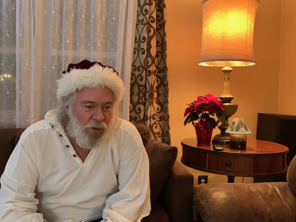 Santa relaxes reading science