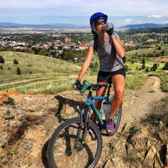 April on mountain bike in Helena