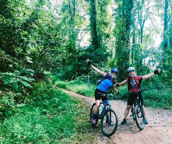Ken and April biking in North Carolina for fitness and exercise