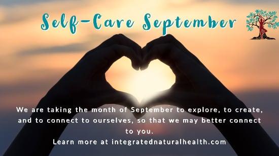 Hands in heart shape for Self Care September