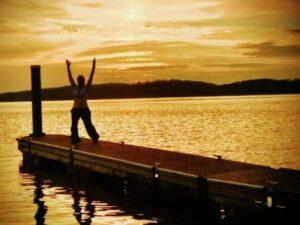 Theresa on Lake Guntersville Dock
