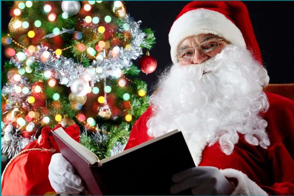 Santa reads bedtime stories